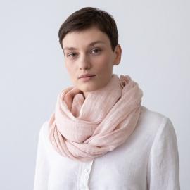 Sommertørklæde i hør, rosa, Garza