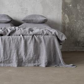 Lagen i hør, grå, stenvasket, Herringbone