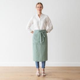 Serveringsforklæde i hør, grønt, stenvasket