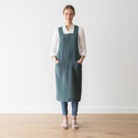 Hørforklæde, balsam-grønt, stenvasket