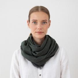 Tørklæde i 100% fin merinould, grønt, Luciano