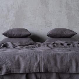 Sengesæt i hør, grå, stenvasket