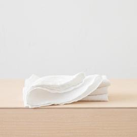 Stenvasket hvid serviet i hør