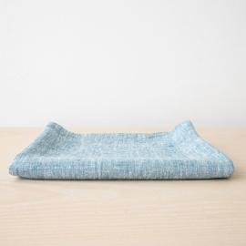 Badehåndklæde i hør, marineblåt, Francesca
