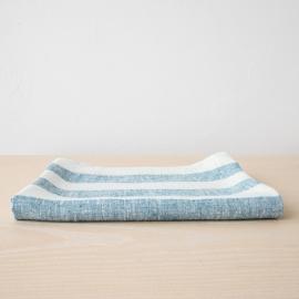 Badehåndklæde i hør, marineblåt, Philippe