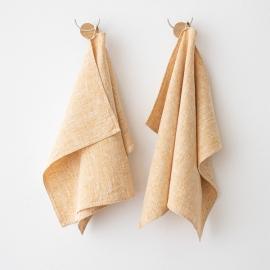 Håndklæder i hør, 2 stk., Gold Francesca