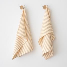 Håndklæder i hør, 2 stk., Gold Brittany