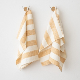 Håndklæder i hør, 2 stk., Gold Philippe