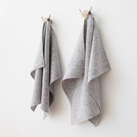 Håndklæder i hør, 2 stk., Graphite Francesca