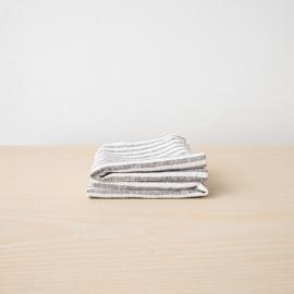 Håndklæder i hør, 2 stk., Graphite Brittany