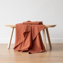 Badehåndklæde i hør, Rust, Waffle