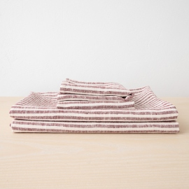 Sæt af håndklæder i hør, Cherry, Brittany