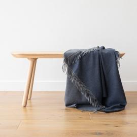 Plaid i 100% cashmereuld, Emilio MARINEBLÅ Blue
