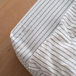 Faconlagen, indigo, forvasket, Stripe