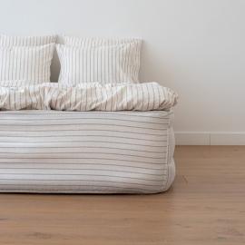 Faconlagen, naturfarvet, forvasket, Stripe