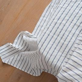 Fladt lagen, indigo, forvasket, Stripe