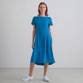 Kjole i hør, sea blue, Adel