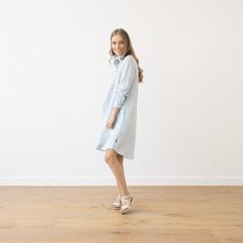 Kjole i hør, Camilla Sky Blue Melange
