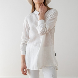 Hvid Skjorte i Hør Paolo