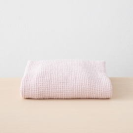 Lyserødt badehåndklæde af hør, Waffle