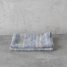 Sæt af håndklæder i hør, naturfarvet, Multistripe