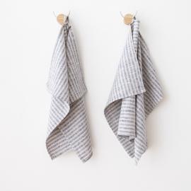 Håndklæder i hør, 2 stk., Indigo Brittany