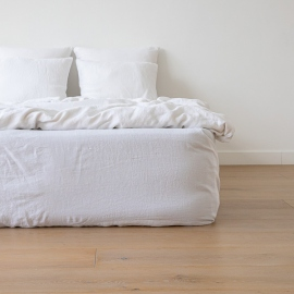 Boxlagen i hør, hvidt, stenvasket