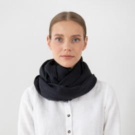 Tørklæde i uld, sort, Fabiene