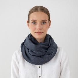 Tørklæde i uld, blåt, Fabiene