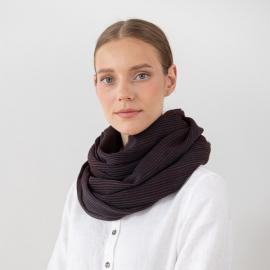 Tørklæde i uld, brunt, Fabiene
