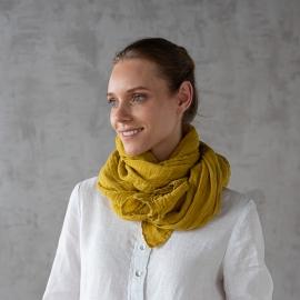 Sommertørklæde i hør, mustard, Garza