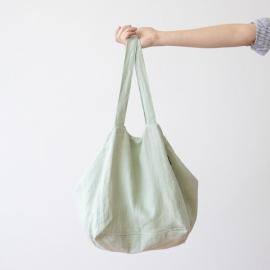 Strand-taske i hør, soft grass, Lara