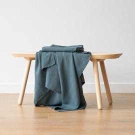 Badehåndklæde i hør, Balsam Green, Waffle