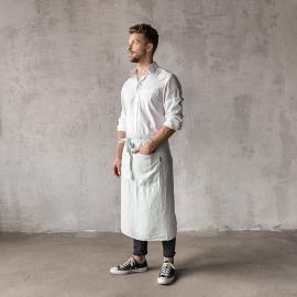 Serveringsforklæde til mænd, forvasket, isblåt