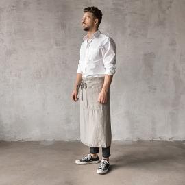 Serveringsforklæde til mænd, forvasket, taupe