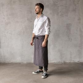 Serveringsforklæde til mænd, forvasket, gråt