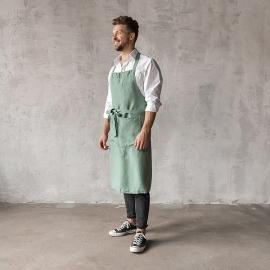Smækforklæde til mænd, forvasket, spa-grønt