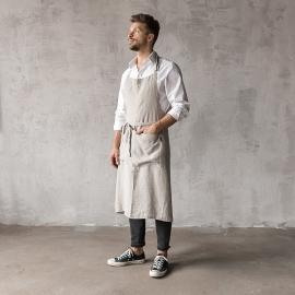 Smækforklæde til mænd, forvasket, sølv