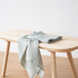 Håndklæde-sæt i hør, 2 stk., Sea Foam, Waffle