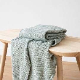 Badehåndklæde i hør, Sea Foam, Waffle