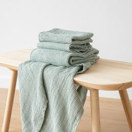Badehåndklæder i hør, Sea Foam, Waffle