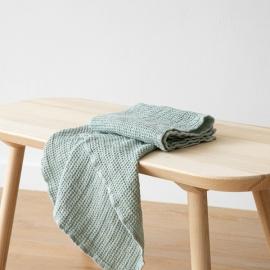 Håndklæder i hør, Sea Foam, Waffle