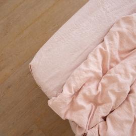 Lyserødt boxlagen i hør, forvasket, Melange