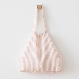 Lyserød strandtaske i hør, Brittany