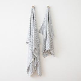 Strandhåndklæde i hør, indigo, Brittany