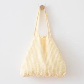 Strandtaske i hør, gul, Brittany