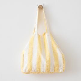 Strandtaske i hør, gul, Philippe