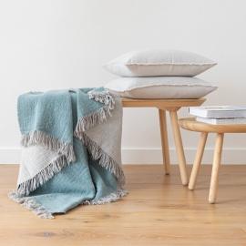 Tæppe i merinould, Aqua, Marcus