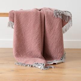 Tæppe i merinould, lyserødt, Marcus