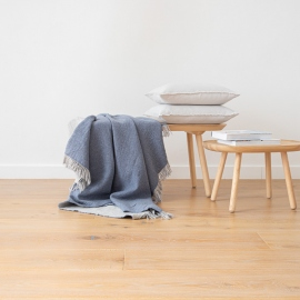 Tæppe i merinould, Jeans, Marcus